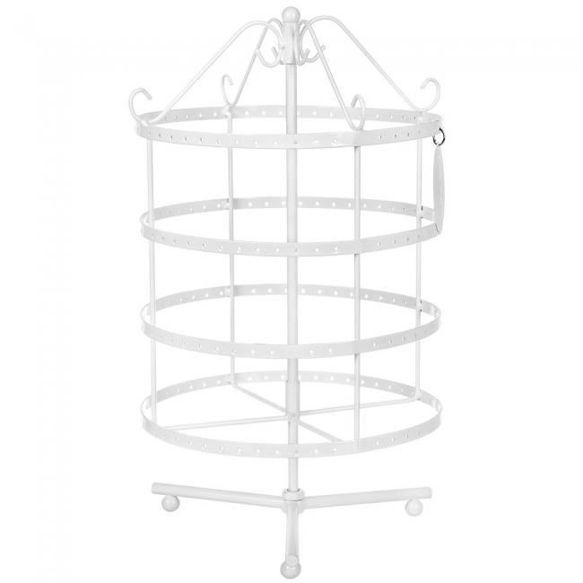 Okrągły stojak na kolczyki - 4 poziomy- biały
