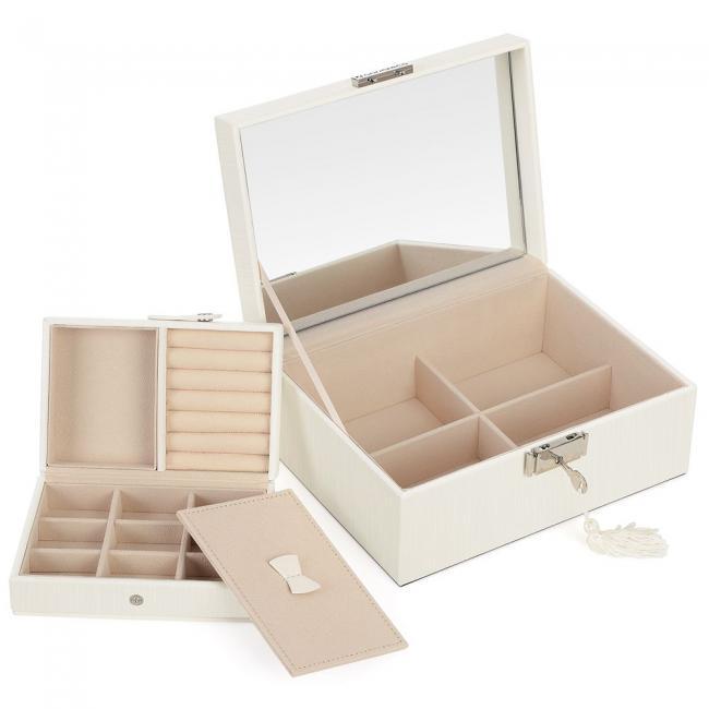 Pudełko na biżuterię- białe