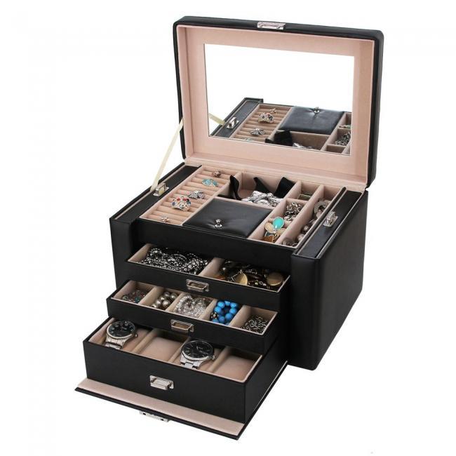 Pudełko na biżuterię- czarne