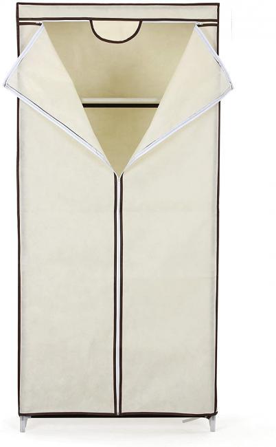 Garderoba wolnostojąca z materiałowym pokrowcem