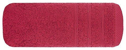 Ręcznik bawełna - wiskoza -50x90 cm - bordowy