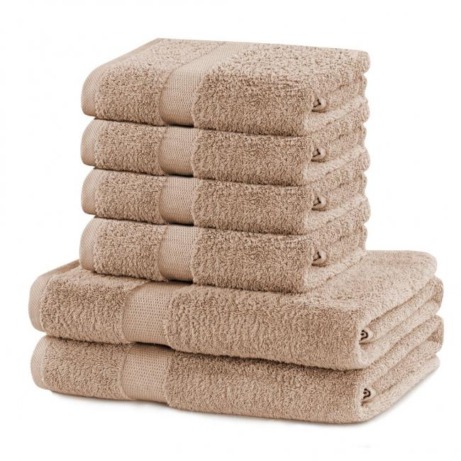 DecoKing - Ręcznik bawełna - zestaw 6 sztuk - beżowy