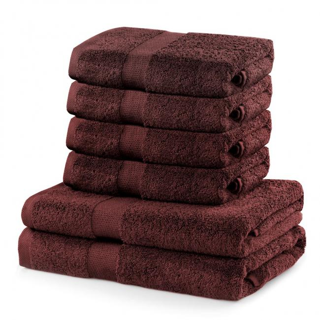 DecoKing - Ręcznik bawełna - zestaw 6 sztuk -  brązowy