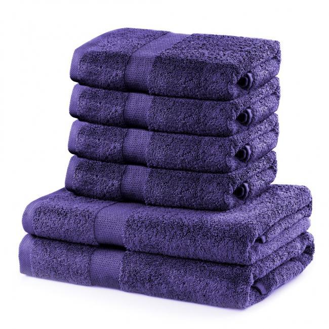 DecoKing - Ręcznik bawełna - zestaw 6 sztuk  - fioletowy