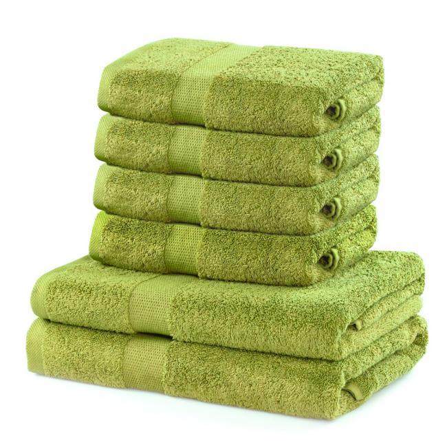 DecoKing - Ręcznik bawełna - zestaw 6 sztuk  - jasnozielony