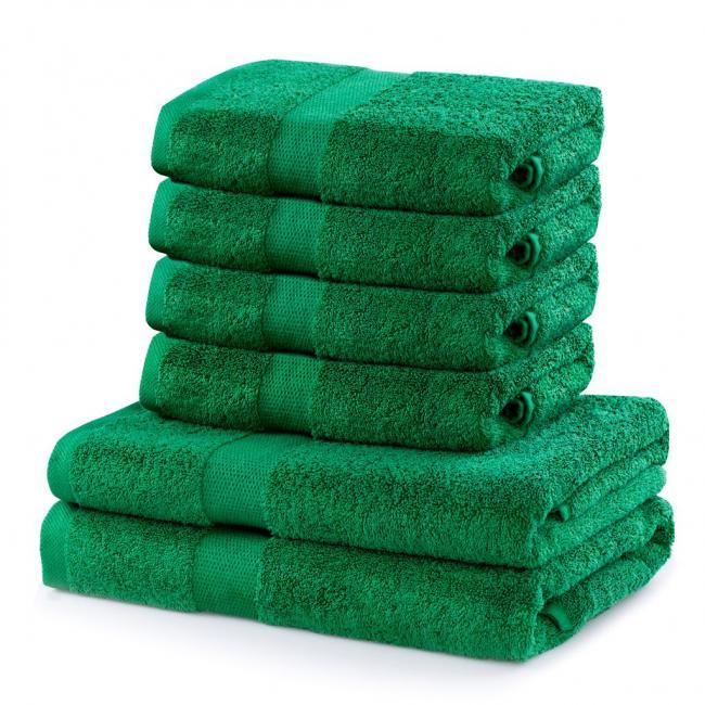DecoKing - Ręcznik bawełna - zestaw 6 sztuk  - zielony