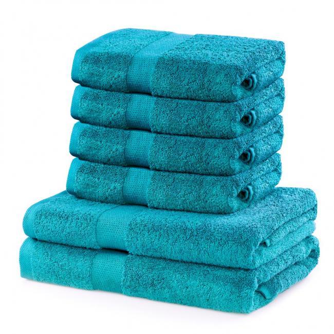 DecoKing - Ręcznik bawełna - zestaw 6 sztuk  - turkusowy