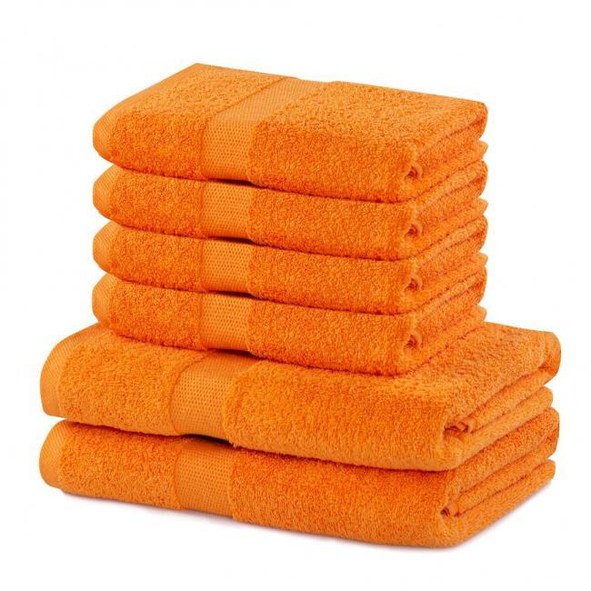 DecoKing - Ręcznik bawełna - zestaw 6 sztuk  - pomarańczowy