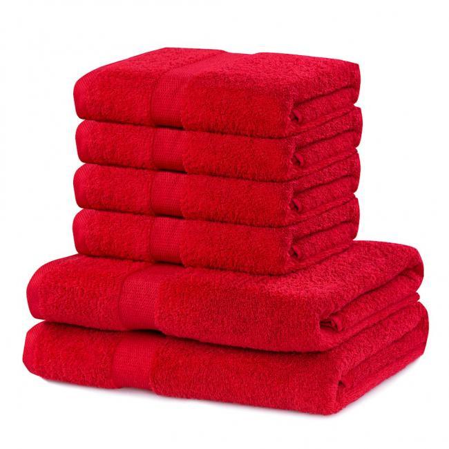 DecoKing - Ręcznik bawełna - zestaw 6 sztuk  - bordowy