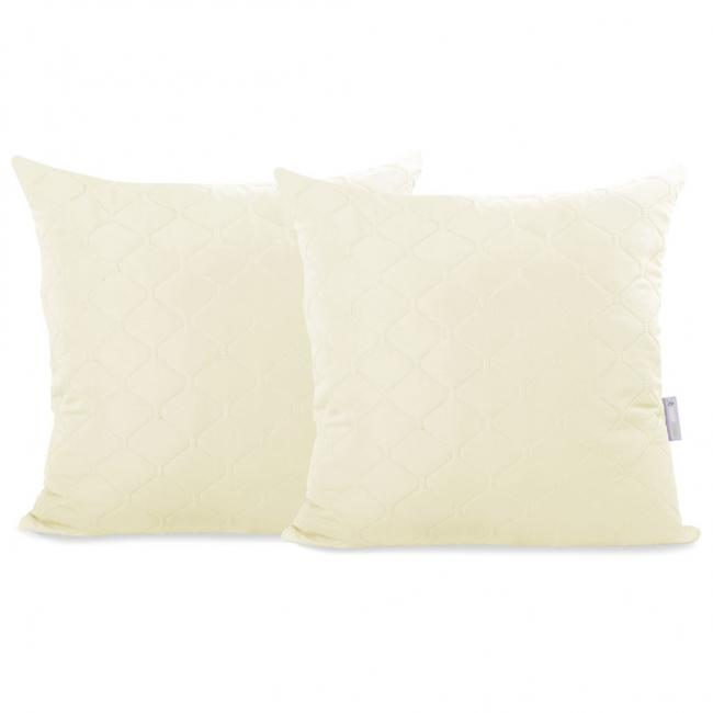 DecoKing - Poszewka na poduszkę  - beżowa - 40x40 - 1 sztuka