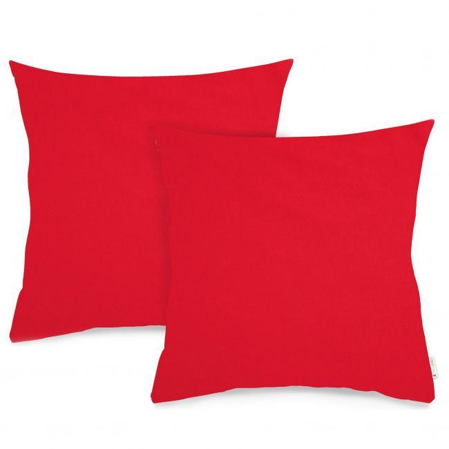 DecoKing - poszewka z bawewłny 40x40cm - 2 sztuki - czerwona