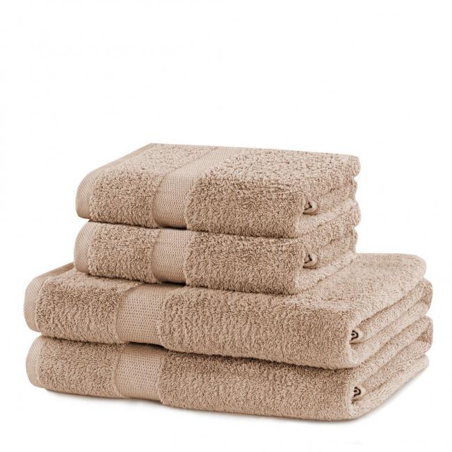 DecoKing - ręcznik bawełna 100% - zestaw 4 sztuk - beżowy
