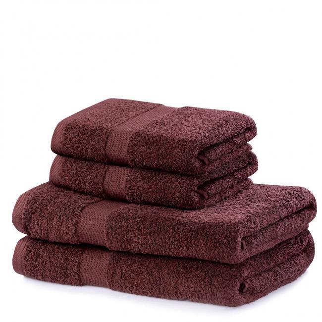 DecoKing - ręcznik 100% bawełny - zestaw 4 sztuk -  brązowy