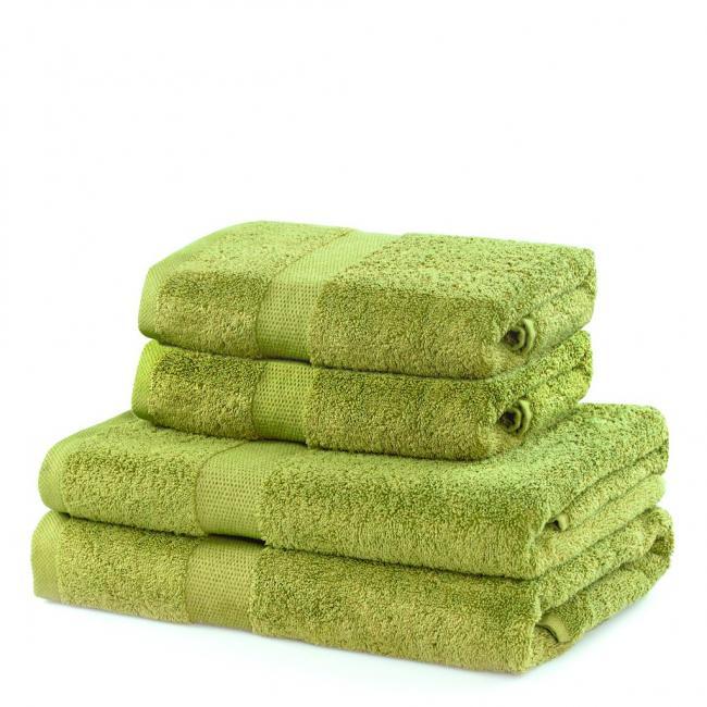 DecoKing - ręcznik 100% bawełny - zestaw 4 sztuk -  jasnozielony