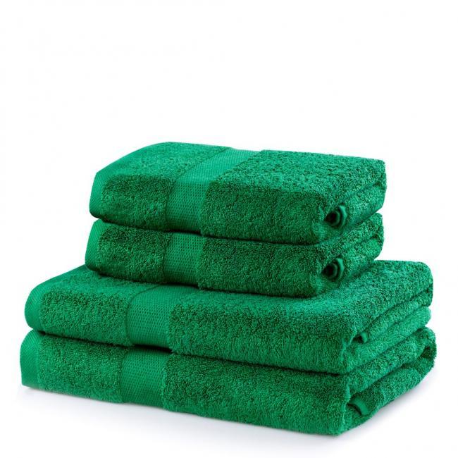 DecoKing - ręcznik 100% bawełny - zestaw 4 sztuk -  zielony