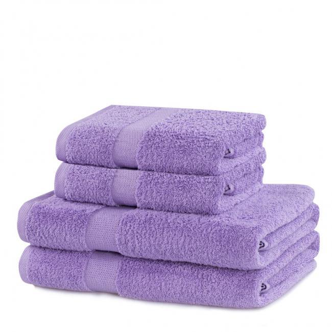 DecoKing - ręcznik 100% bawełny - zestaw 4 sztuk -  liliowy