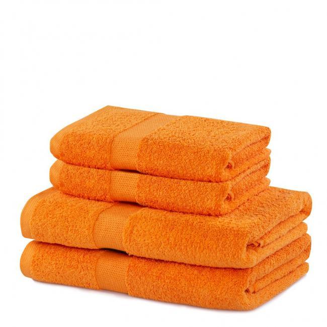 DecoKing - ręcznik 100% bawełny - zestaw 4 sztuk -  pomarańczowy