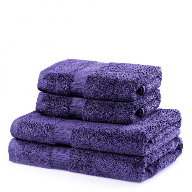 DecoKing - ręcznik 100% bawełny - zestaw 4 sztuk -  fioletowy