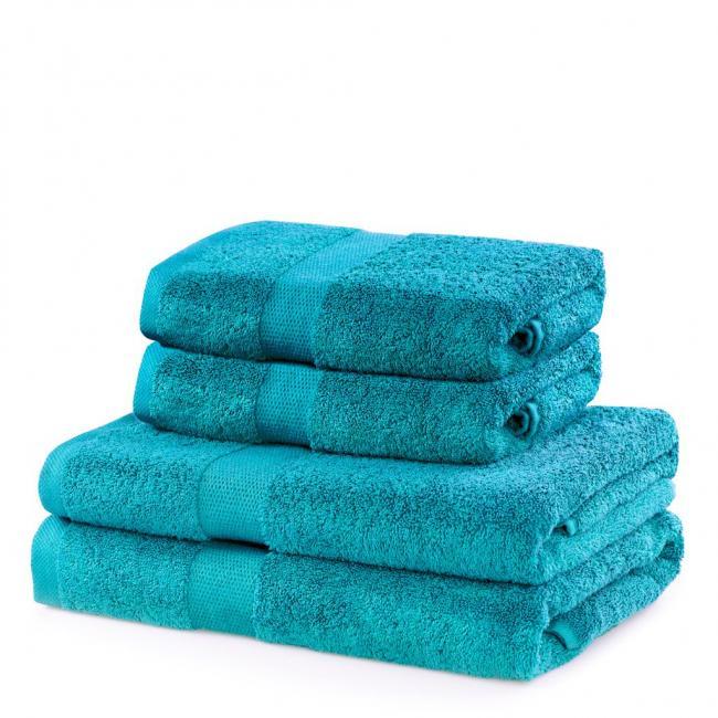 DecoKing - ręcznik 100% bawełny - zestaw 4 sztuk -  turkusowy