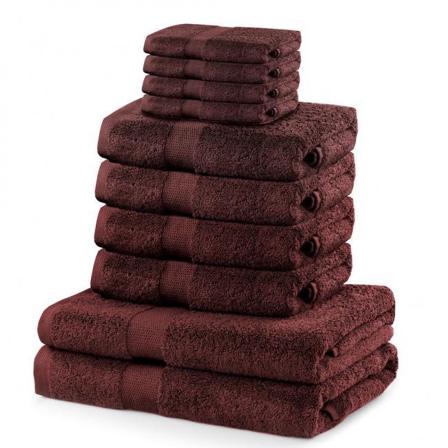 DecoKing - ręcznik 100% bawełny - zestaw 10 sztuk -  brązowy