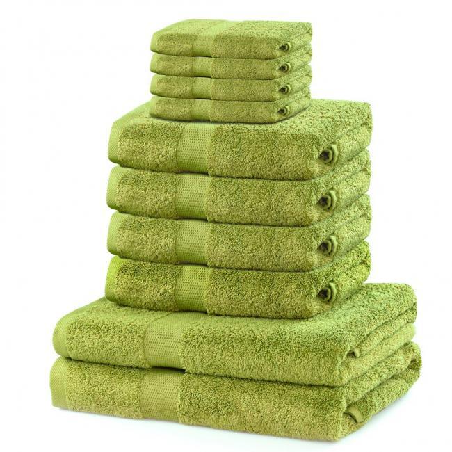 DecoKing - ręcznik 100% bawełny - zestaw 10 sztuk -  jasnozielony