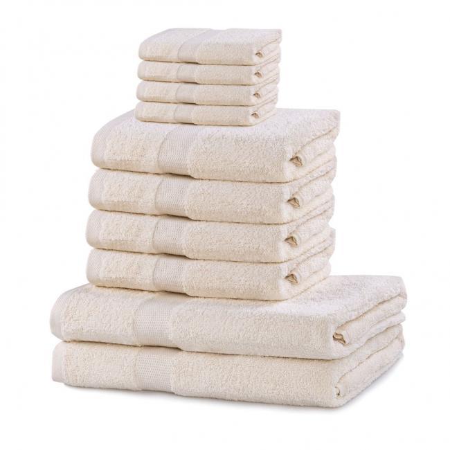 DecoKing - ręcznik 100% bawełny - zestaw 10 sztuk -  kremowy