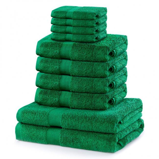 DecoKing - ręcznik 100% bawełny - zestaw 10 sztuk -  zielony