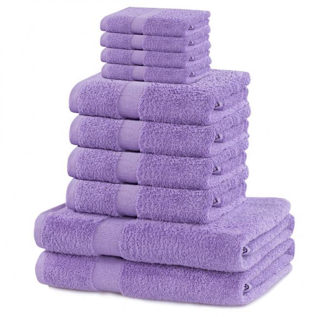DecoKing - ręcznik 100% bawełny - zestaw 10 sztuk -  liliowy