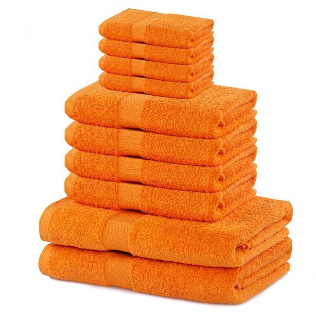 DecoKing - ręcznik 100% bawełny - zestaw 10 sztuk -  pomarańczowy