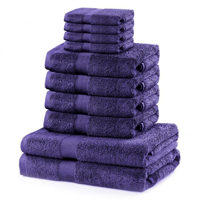 DecoKing - ręcznik 100% bawełny - zestaw 10 sztuk -  fioletowy
