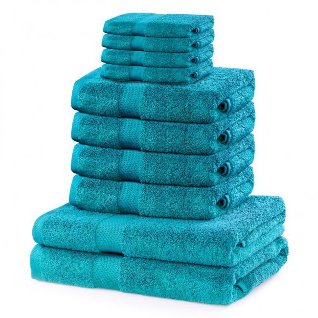 DecoKing - ręcznik 100% bawełny - zestaw 10 sztuk -  turkusowy