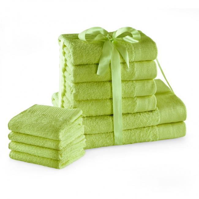 AmeliaHome - ręcznik 100% bawełny - zestaw 10 sztuk -  jasnozielony
