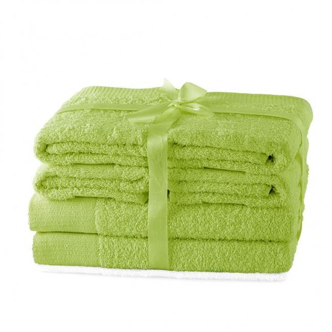 AmeliaHome - ręcznik 100% bawełny - zestaw 6 sztuk -  jasnozielony