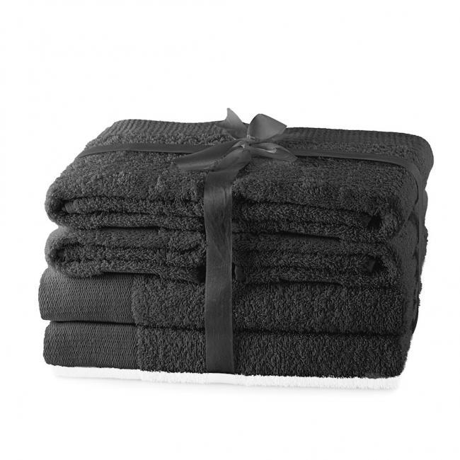 AmeliaHome - ręcznik 100% bawełny - zestaw 6 sztuk -  grafitowy