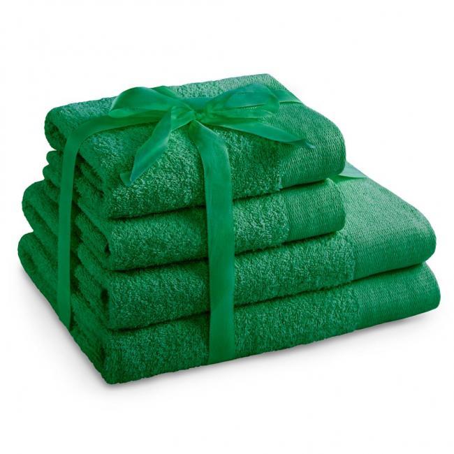 AmeliaHome - ręcznik 100% bawełny - zestaw 4 sztuk -  zielony