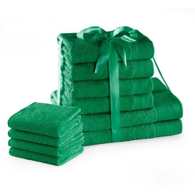 AmeliaHome - ręcznik 100% bawełny - zestaw 10 sztuk -  zielony