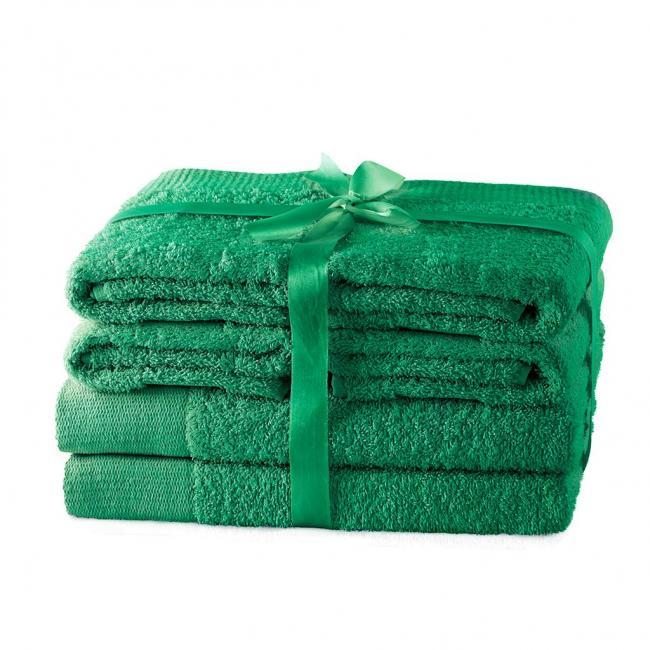 AmeliaHome - ręcznik 100% bawełny - zestaw 6 sztuk -  zielony