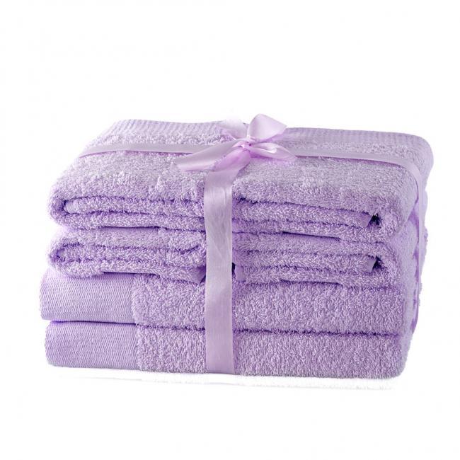 AmeliaHome - ręcznik 100% bawełny - zestaw 6 sztuk -  liliowy
