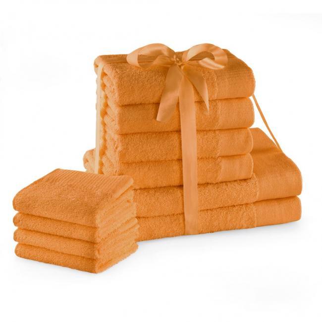 AmeliaHome - ręcznik 100% bawełny - zestaw 10 sztuk -  pomarańczowy