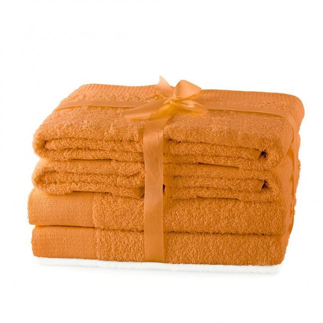 AmeliaHome - ręcznik 100% bawełny - zestaw 6 sztuk -  pomarańczowy