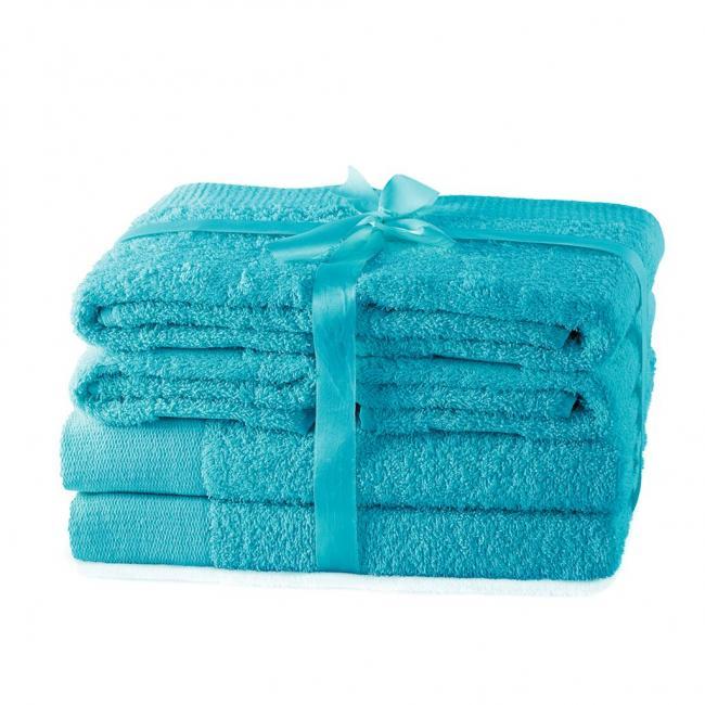 AmeliaHome - ręcznik 100% bawełny - zestaw 6 sztuk -  turkusowy