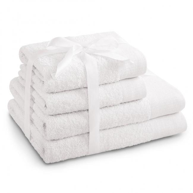 AmeliaHome - ręcznik 100% bawełny - zestaw 4 sztuk -  biały