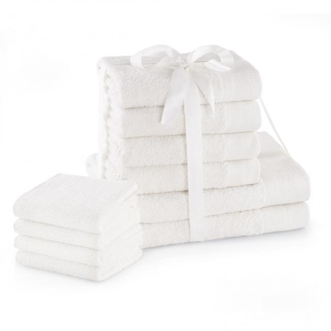 AmeliaHome - ręcznik 100% bawełny - zestaw 10 sztuk -  fioletowy