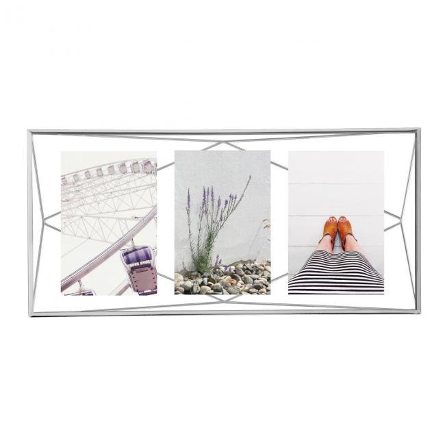 Geometryczna ramka na zdjęcia - srebrna
