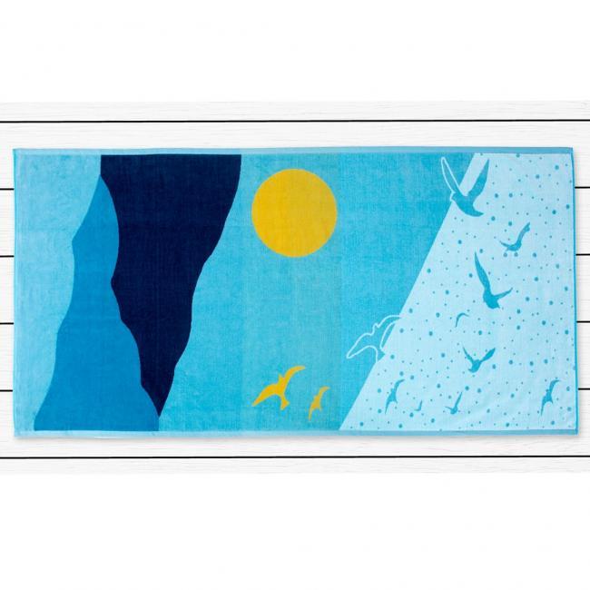 DecoKing - ręcznik plażowy 100% bawełny - 90x180cm - OCEAN
