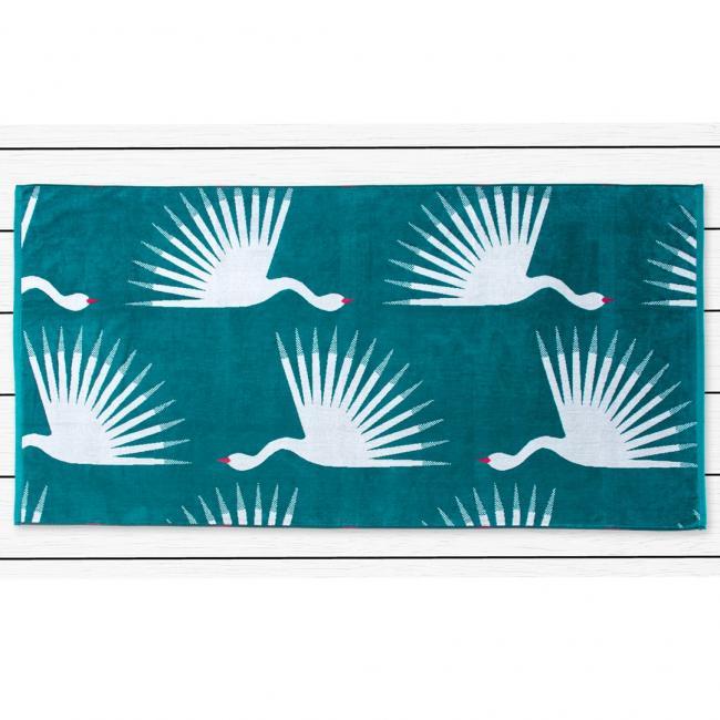 DecoKing - ręcznik plażowy 100% bawełny - 90x180cm - BIRDS