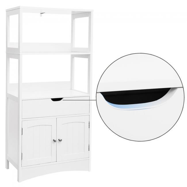 Wielofunkcyjna szafka do przechowywania - biała