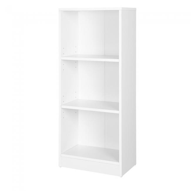 Regał na książki z 3 półkami - biały