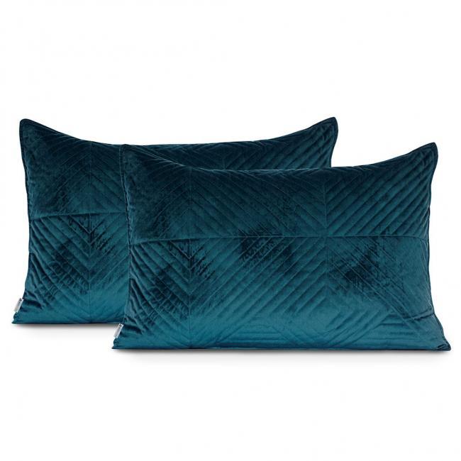 DecoKing - Poszewka  - morski + błękitny - 45x45 cm - 2 sztuki