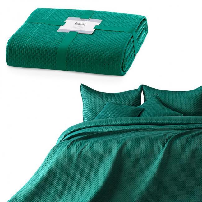 AmeliaHome - narzuta z geometrycznymi tłoczeniami - zielona - różne rozmiary